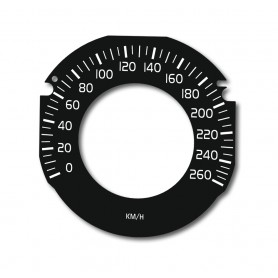 Volvo V40, S60, V60, XC60 DRIVE E - Replacement dial, counter face, gauge - converted from MPH to Km/h