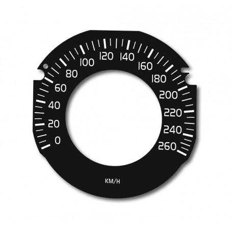 Volvo V40, S60, V60, XC60 DRIVE E - Replacement dial - converted from MPH to Km/h