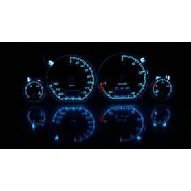 Volkswagen Golf MK3 - custom gauges, range starts on top - plasma tacho glow gauges tachoscheiben dials