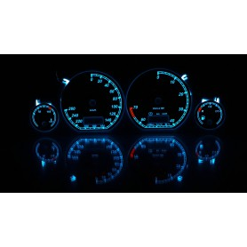 Volkswagen Golf MK3 - custom gauges, range starts on top