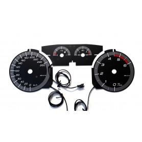 FIAT BRAVO 2 - in ALFA ROMEO GIULIETTA Style INDIGLO plasma tacho glow gauges tachoscheiben dials
